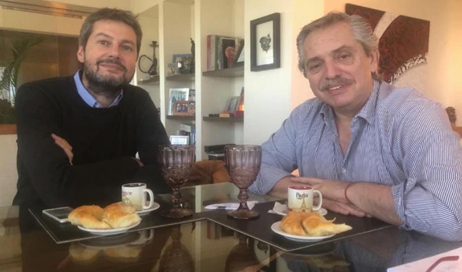 Matías Lammens y Alberto Fernández desayunaron juntos este miércoles