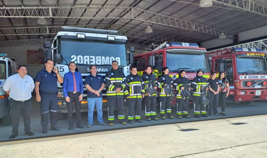 IMPORTANTE. Con los elementos recibidos, los bomberos voluntarios termenses podrán desarrollar su tarea de manera más segura.