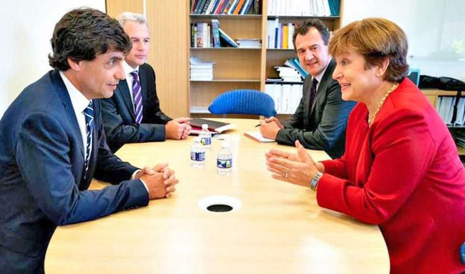 Uno de los encuentros será con Kristalina Georgieva, del FMI