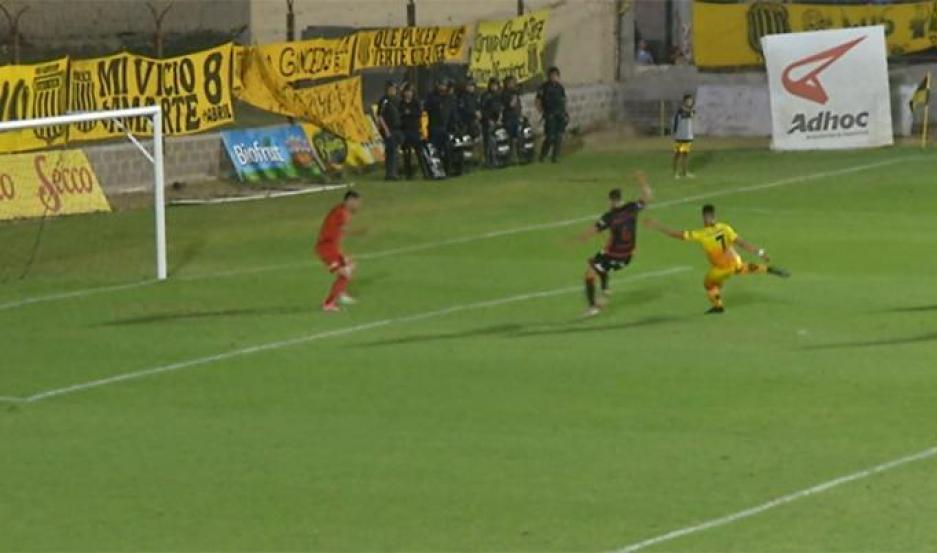 El supuesto offside se produjo en el minuto 12, del segundo tiempo.