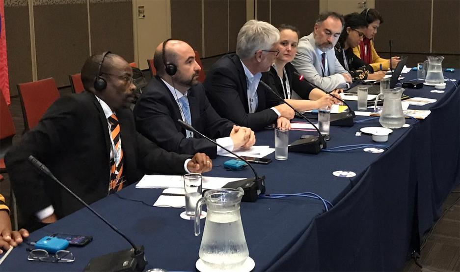 Pablo Mirolo, en la Cumbre Mundial de Líderes Locales y Regionales.