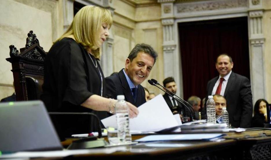Sergio Massa preside la Cámara de Diputados de la Nación desde el pasado 10 de diciembre.